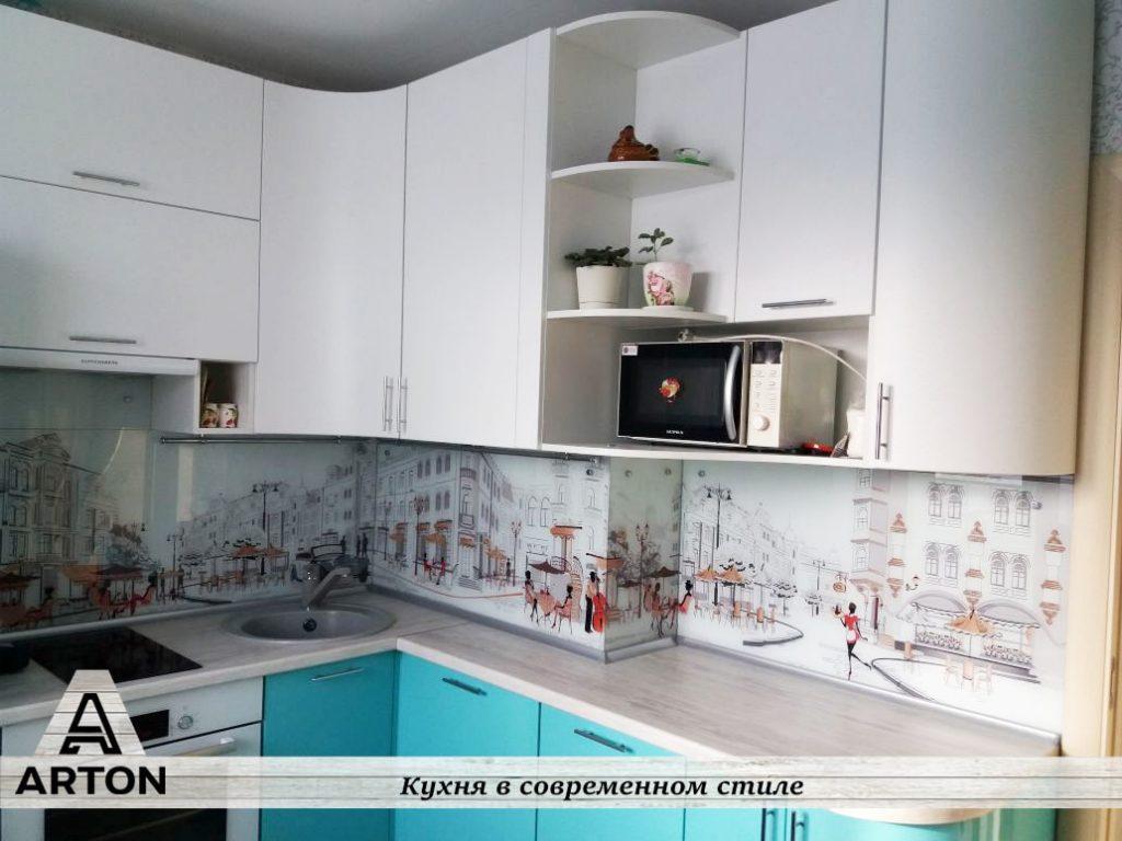 Кухня на заказ с фотопечатью недорого.