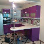 """Кухня на заказ """"Виолетта глянец"""""""