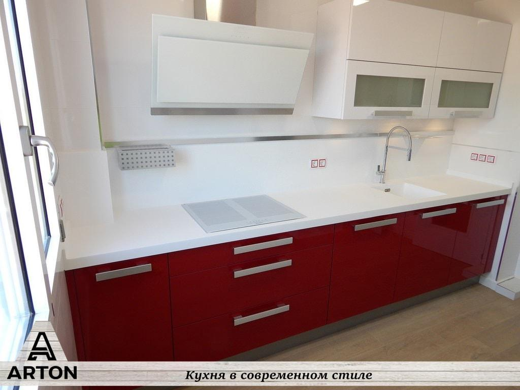 """Кухня на заказ """"Красный глянец"""""""