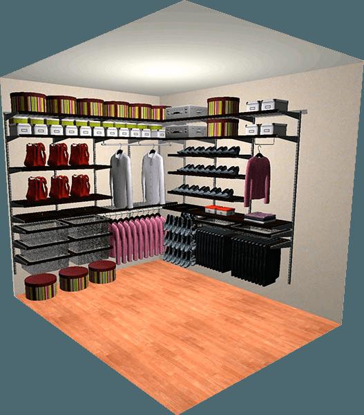 Гардеробные системы Кемерово. Разработка дизайна гардеробных бесплатно с 3 D.