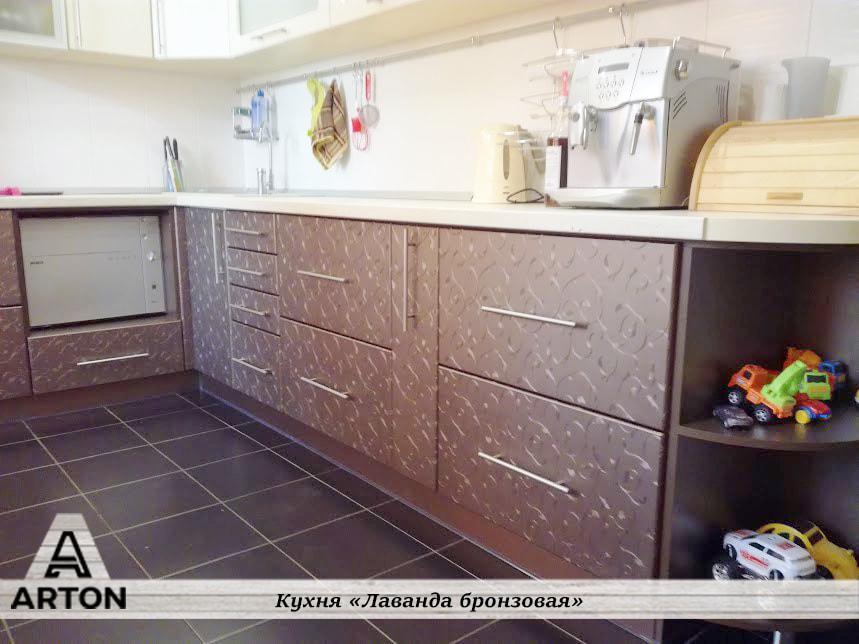 """Кухня на заказ """"Лаванда бронзовая"""""""